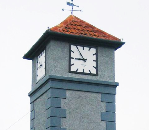 W.H Webb clock tower recently restored by Cleary Contracting