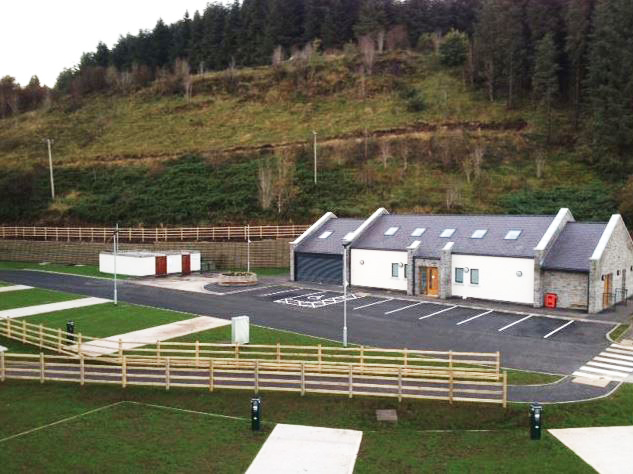 Glamping site - at Glenariff forest recently completed by Cleary Contracting.